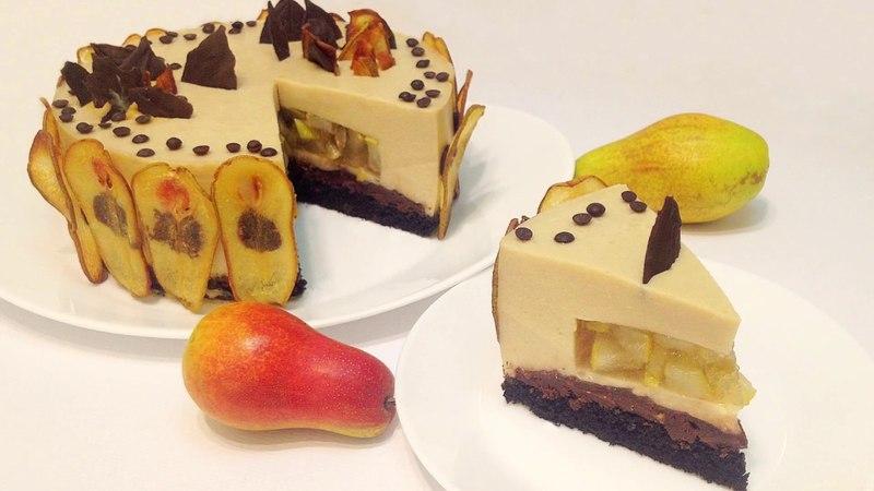 МУССОВЫЙ ТОРТ ГРУШЕВОЕ ОБЛАКО   ( pear cake)