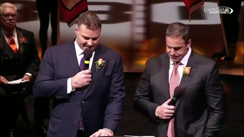 Lindros and LeClair thank Flyers organization!