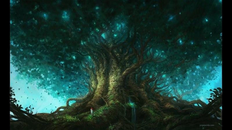 ProCreate Digital Painting - Fantasy Art - The Tree Of Life Time-lapse