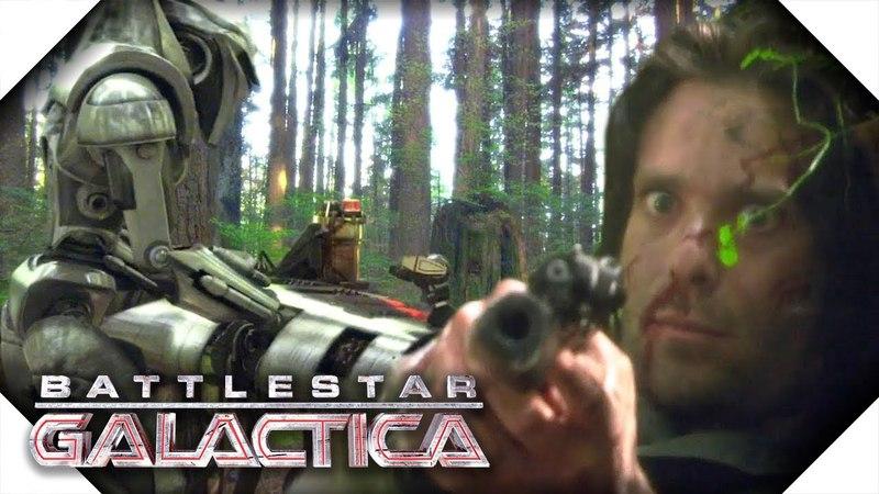 Battlestar Galactica | Gaius Baltar Shoots Crashdown on Kobol