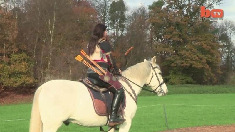 Real-Life Robin Hoods_ Stunt Couple Fire Arrows From Horseback