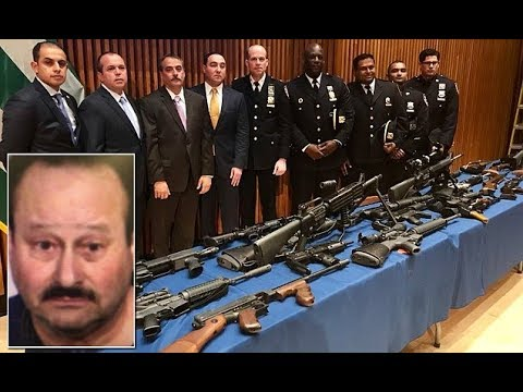 Queens man, 60, is arrested with huge cache of over SEVENTY illegal g uns