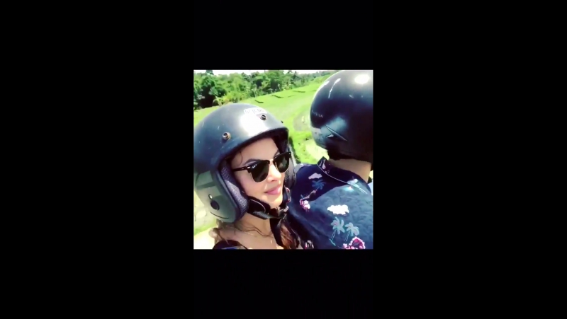 Matt and Esther went on a moped ride through Bali