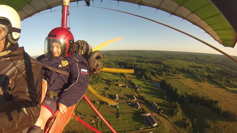 один из полётов над Самково и Берёзовкой