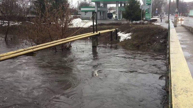 Потоп наводнение в городе Ахтырка 1 2 3 апреля 2018 Шутка от природы превратилась в катастрофу