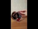 Сувенир-сердце с Вашим фото (с хлопьями-сердечками)