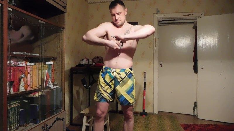 Узел Сотского гвозди 250мм на 7,5мм голые руки(без упора)