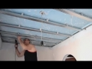 Как самостоятельно и без труда сделать ремонт потолка из гипсокартона за 5 минут.mp4