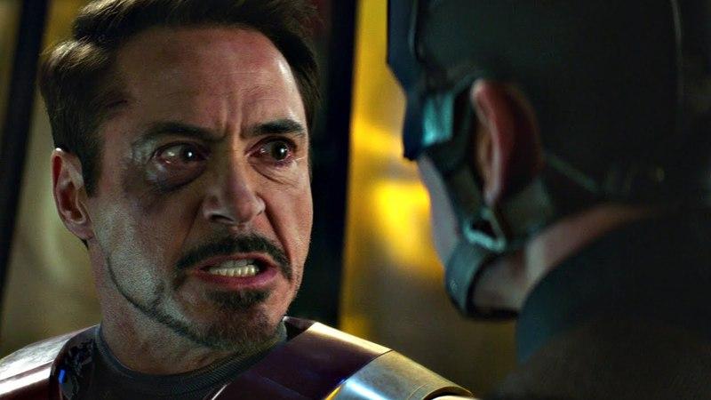 Железный человек против Баки и Капитана Америка Часть 1 Первый мститель Противостояние 2016