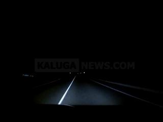 Успел увернуться от лося, выбежавшего на трассу Тула - Калуга