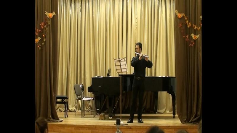 К.Ф.Э. Бах .Соната для флейты соло.ля-минор (I-II)