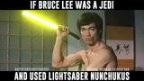 Bruce Lee with Lightsaber Nunchuks! Star Wars meets Enter the Dragon