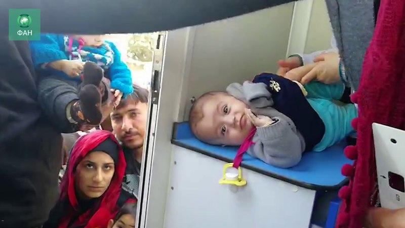 Сирия помогла беженцам из Африна: ФАН публикует видео из Бурдж Хайдер