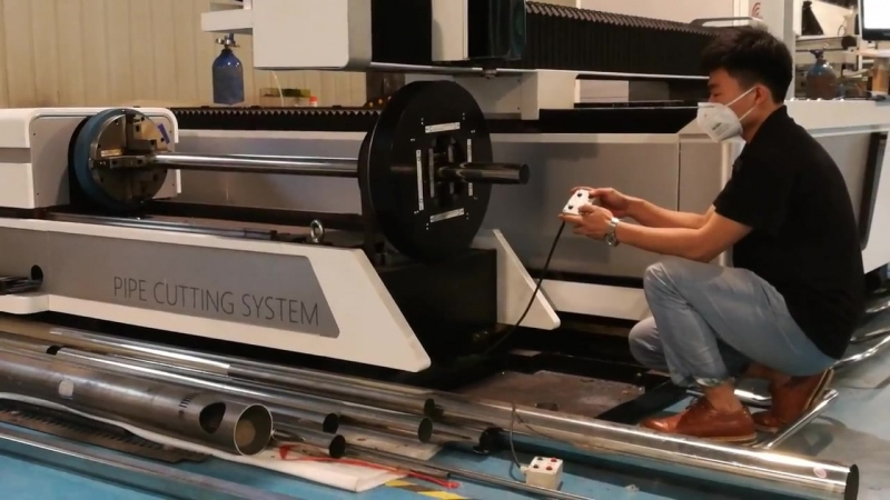 Bodor fiber laser dual use tube and sheet cutting machine F1530TCutting 2mm stainless steeel
