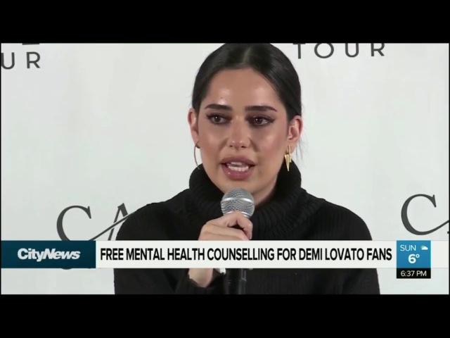 Demi Lovato, Lauren Abedini and Dave Osokow speaking at CAST On Tour in Montreal