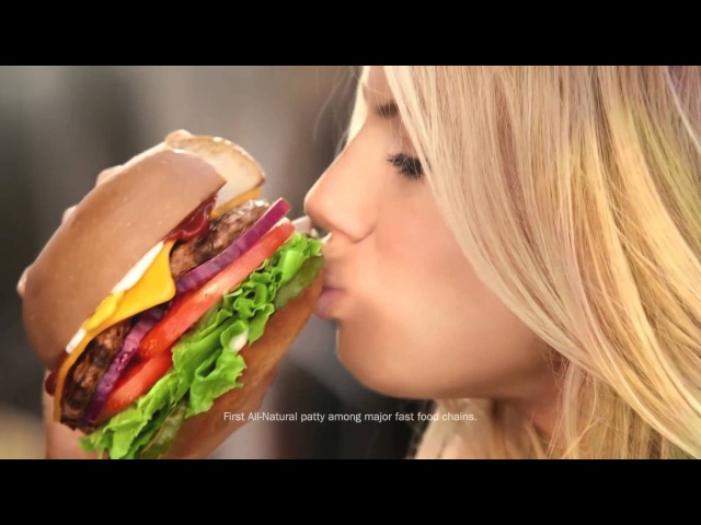 Hardees The All Natural Burger feat Charlotte McKinney Au Naturel Commercial