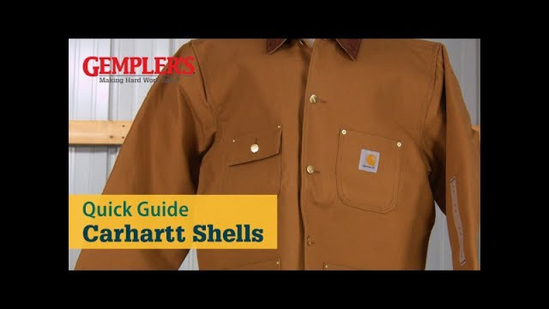 Quick Guide to Carhartt Shells - Cotton Duck, Firm Duck, Sandstone Duck, Washed Duck and Quick Duck