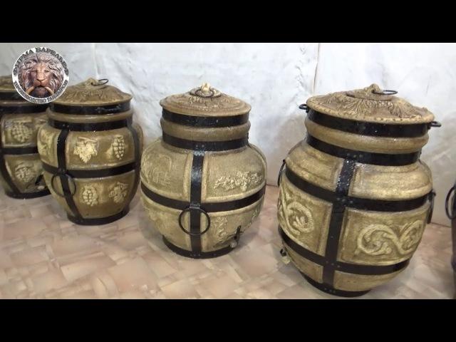 Видео обзор дровяных тандыров фирмы Барельеф