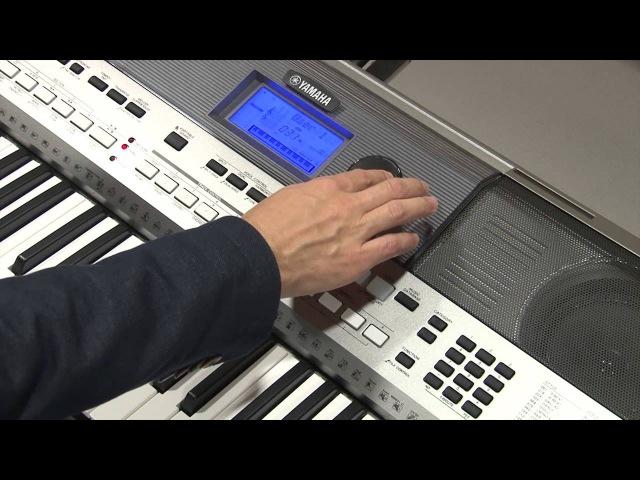 Операции с USB (сохранение данных и загрузка стилей) на инструменте Yamaha PSR-E443