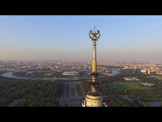 Столкновение квадрокоптера со шпилем МГУ