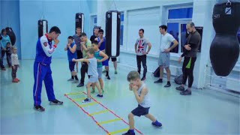Открытая тренировка по боксу для детей и взрослых Разминка кардио отработка т