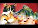 Eine Angel gemacht und Fisch gefangen