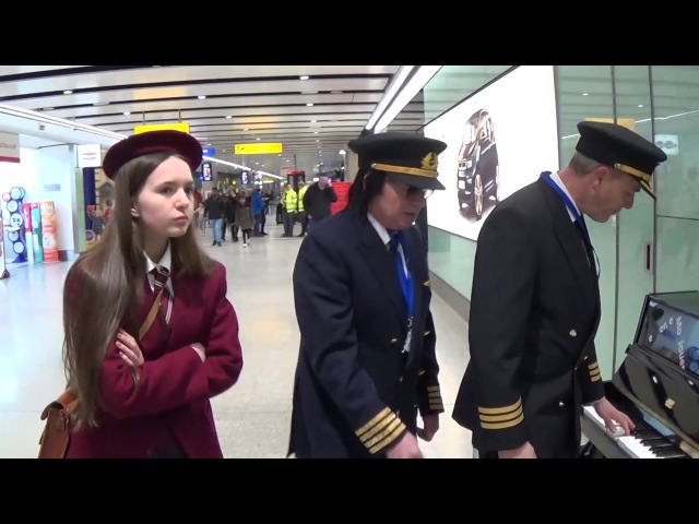 Schoolgirl Gets Thrown Off Piano By Airline Pilots