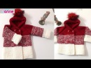 Degrade kapşonlu bebek hırkası yapımı - Renk geçişli hırka yapımı