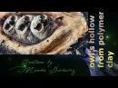 Owl's hollow form polymer clay 3 sowy w dziupli