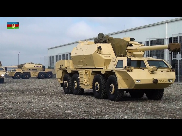 Raket və Artilleriya Qoşunlarının silah və hərbi texnikası atəş mövqelərinə çıxarılıb - 14.03.2018