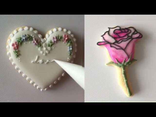 Valentine's Day Cookies Art Decorating Compilation Awesome CookiesDecorating Tutorial