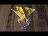 Servietten falten: Flamme für Geburtstag, Hochzeit + Weihnachten [W+]