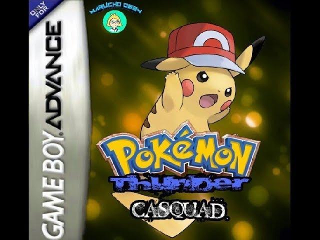 Pokemon Thunder Casquad RUS HACK Часть 2 Три Покемоны Прохождение на GBA