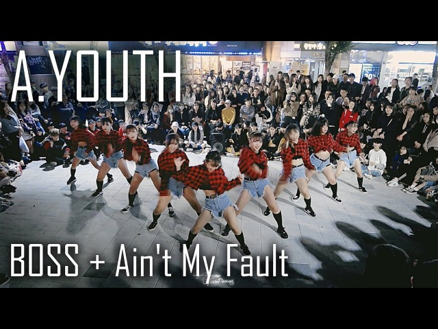 [역대급 버스킹] A.YOUTH | Boss Ain't My Fault | Choreography by Lunahyun Fancam by lEtudel