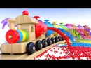 Learn Colors with Preschool Toy Train and Color Balls - Shapes Colors Collection for Children