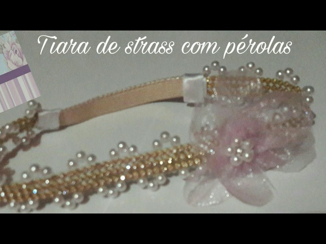 HEADBAND DE STRASS COM PÉROLAS