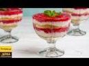 Простой десерт в стакане с творогом и ягодами