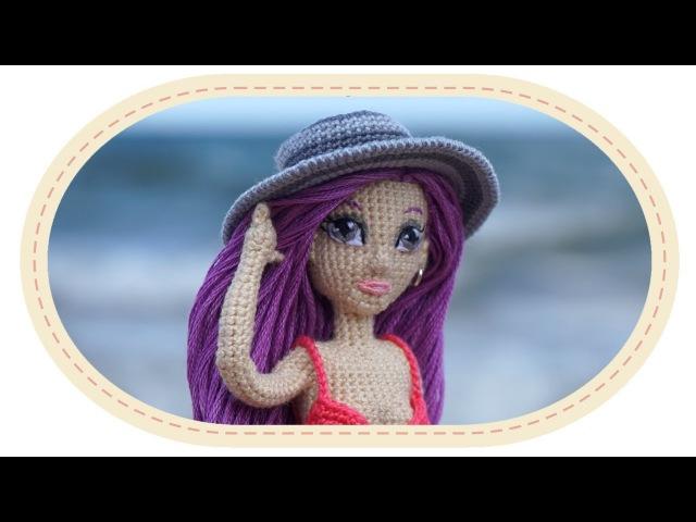 Шляпка крючком для куклы Виолетты. Crochet hat for Violetta doll.
