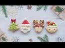 How to make CHRISTMAS MINI COOKIES - Learn to make Santa, Elf, Rudolf and Christmas Tree cookies