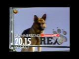 Kommissar Rex Sat 1 TV Vorschau - Alte Fernseh-Werbung - Retro