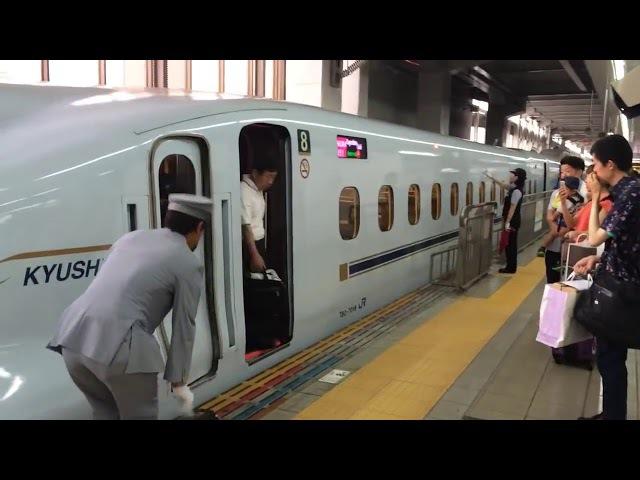 Shinkansen bullet train. Crew change...