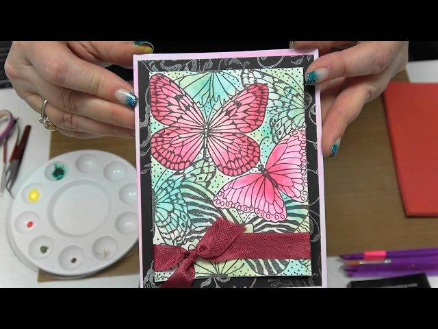 180 Learn Daniel Simth Watercolors with Stamping Embossing by Scrapbooking Made Simple