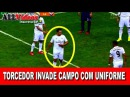 TORCEDOR INVADE CAMPO COM UNIFORME DO REAL MADRID VEJA