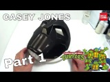 DIY TMNT Casey Jones Mask Part 1 - Paperboard Costume How to