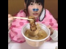 "Mukbang Asmr on Instagram YT ねこてん Food oden fish cake deep fried tofu with mochi inside daikon radish konjac egg """