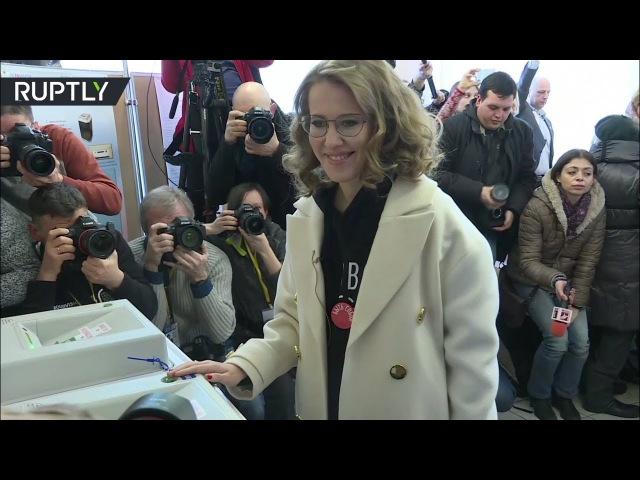 Ксения Собчак проголосовала на выборах главы государства