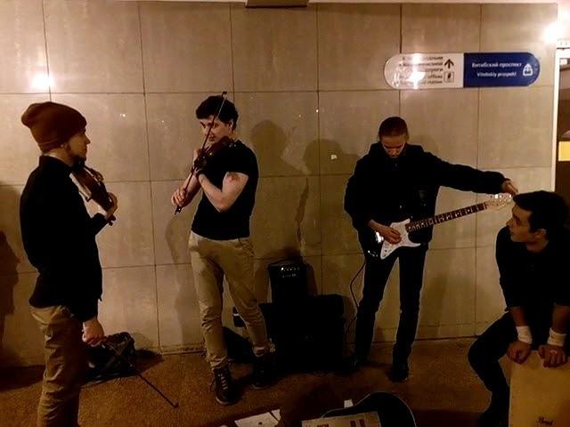 CheerUp Music - Scorpions Wind Of Change violin cover (17.11.2017, SPb, Kupchino subway)