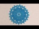 Красивая салфетка крючком. Вязание салфетки крючком. Ажурное вязание. Ч. 1 (napkin. crochet. P. 1)