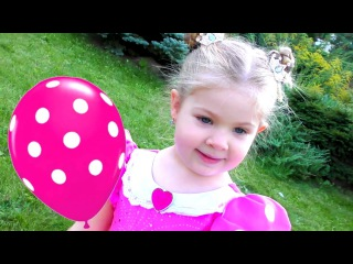 Learn Colors with Balloons and Dresses Finger family song nursery rhyme Fun learning colors for kids