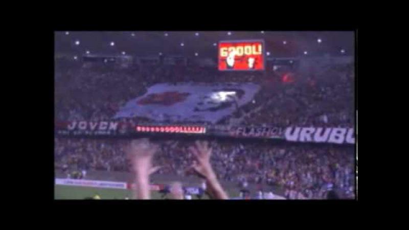 Gol do Adriano direto da torcida do Corinthians Libertadores 2010